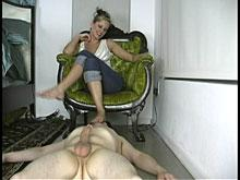 footjob milking